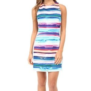 Amanda Uprichard Watercolor Scuba Dress